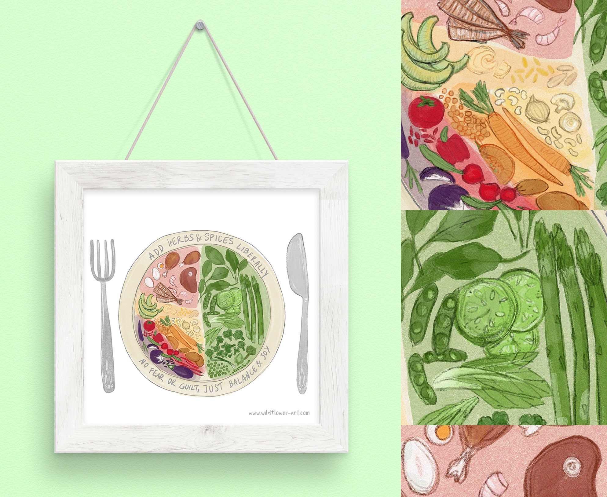 food plate healthy living commission