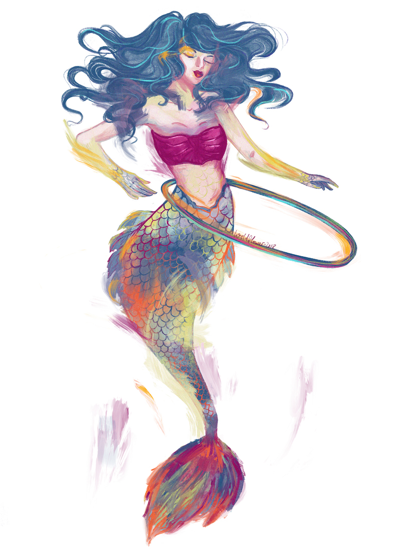 mermaid, mermay, procreate app